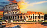great Colosseum on sunset, Rome
