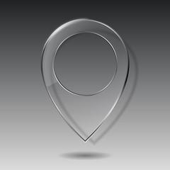 Technology map transparent glass pointer