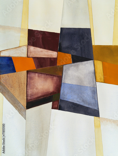 Obraz a modernist abstract watercolor