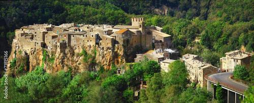 medieval hill top village Calcata, Lazio. Italy - 71815166