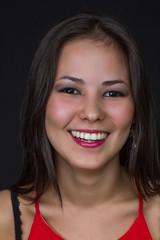 beautiful young asian girl smiling