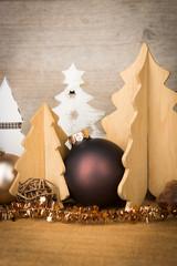 rustikale weihnachtsdekoration