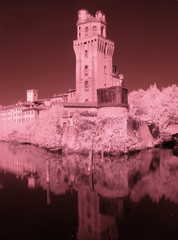 Infrared photography. Astronomical observatory, Padua, Italy.