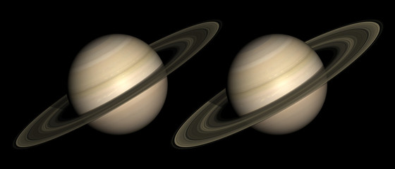 Saturn stereo pair. For 3D images in any format.