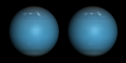 Uranus stereo pair. For 3D images in any format.