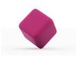 Single purple cube rendered isolated