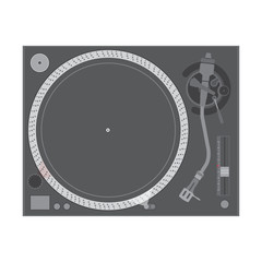 vector flat design vinyl dj turntable