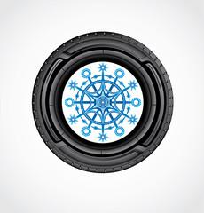 The icon of winter auto tire