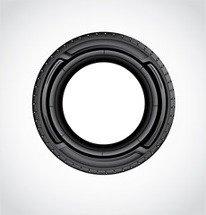 The icon of Car tire