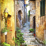 Fototapety charming old streets of mediterranean