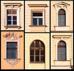 Set of Windows from Krakow, Poland