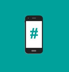 hashtag smartphone