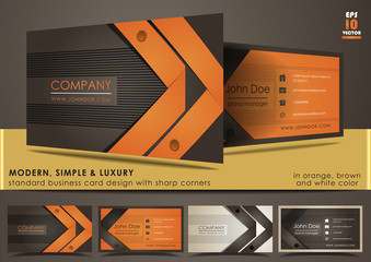 Modern, simple & luxury standard business card design