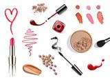 Fototapety make up beauty lipstick nail polish liquid powder mascara pencil