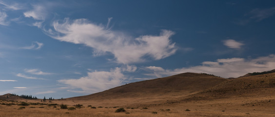 Clouds over the steppe