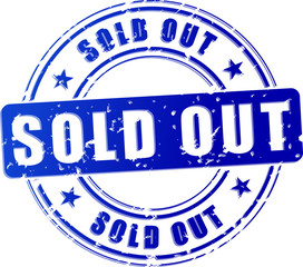 sold out blue stamp