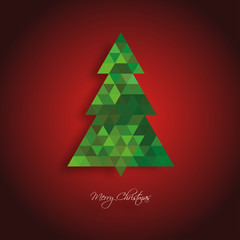 Christmas Tree Background Green and Red