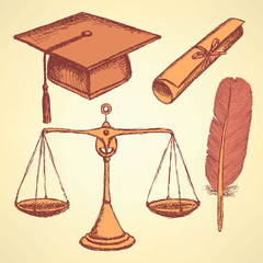 Sketch justice and education set