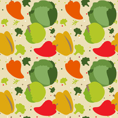 pattern autumn vegetables