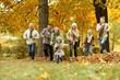 Leinwanddruck Bild - Happy smiling family