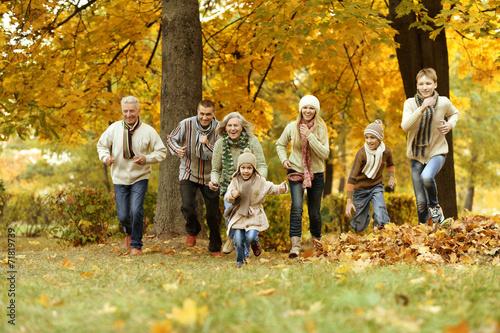 Leinwanddruck Bild Happy smiling family