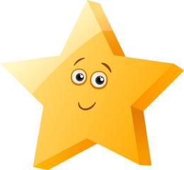 funny star cartoon illustration