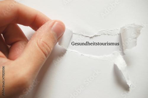 canvas print picture Gesundheitstourismus