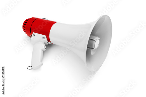 Megaphone isolated on white -Clipping Path - 71820711