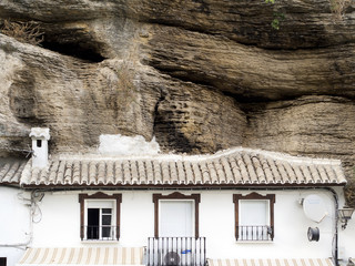 Setenil Andalucia Spain picturesque village   houses embedded in