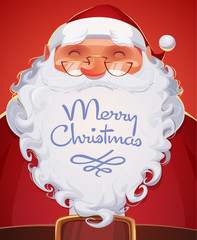 Santa Claus. Christmas card