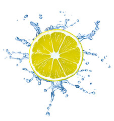 lemon fruit water splash drop food liquid