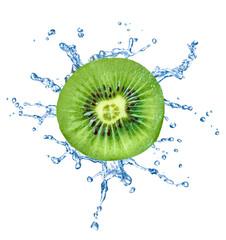 kiwi fruit water splash drop food liquid
