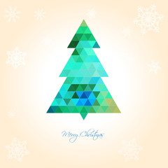 Christmas Tree Background Green and Blue