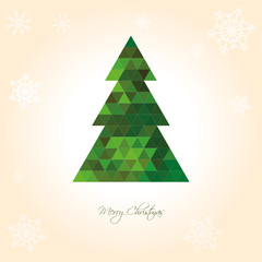 Christmas Tree Background Green