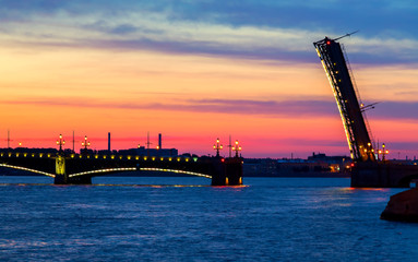Bridge in the city of St. Petersburg, Russia