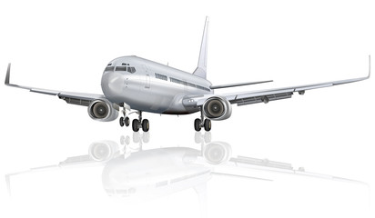 Passagierflugzeug freigestellt