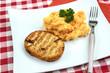 steak de poisson et purée
