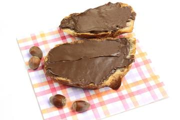 tartine de chocolat