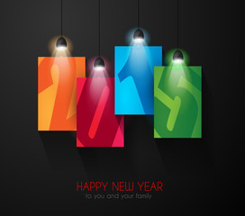 2015 New year original modern background