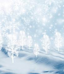 Background of snow. Winter landscape