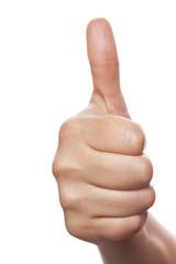 Thumb isolated on white background