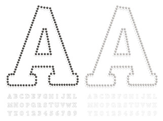 black and white pushpin letters and numbers