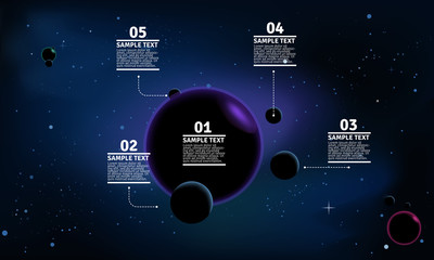 Vector background: Space infographic