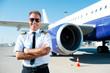 Leinwanddruck Bild - Confident pilot.