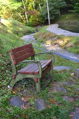 Bench by a Mountain Stream-0