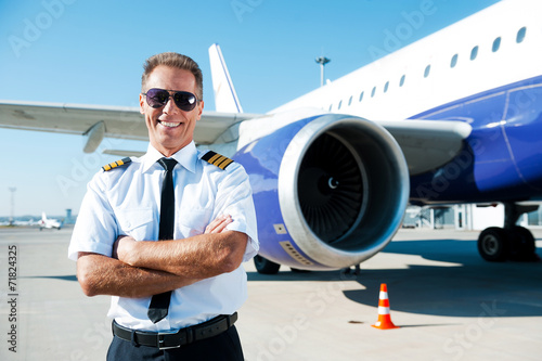 canvas print picture Confident pilot.
