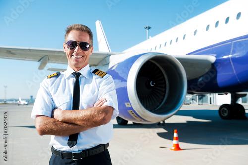 Leinwanddruck Bild Confident pilot.