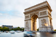 Leinwandbild Motiv Arc de Triomphe in Paris afternoon