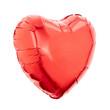 Obrazy na płótnie, fototapety, zdjęcia, fotoobrazy drukowane : Red heart foil balloon on white, clipping path