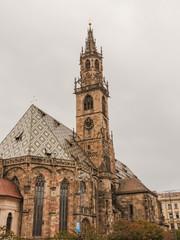 Bozen, historische Altstadt, Dom, Südtirol, Herbst, Italien